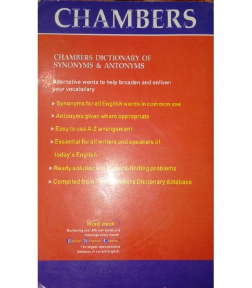 Chambers. Dictionary of synonyms and antonyms